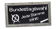Kreidetafel mit Bundestagswahl 2013