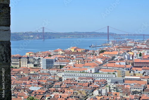 Panoramic view over Lisbon, Portugal