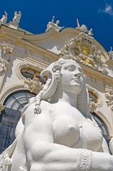 Baroque sphinx statue bust  Belvedere Castle Vienna Austria Euro