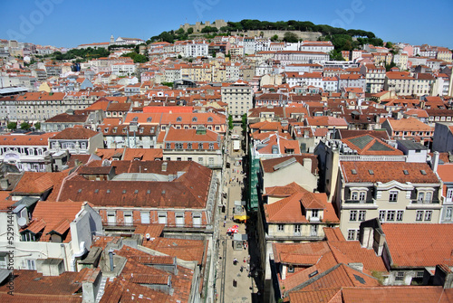 Panoramic view on historic Castelo de Sao Jorge, Lisbon