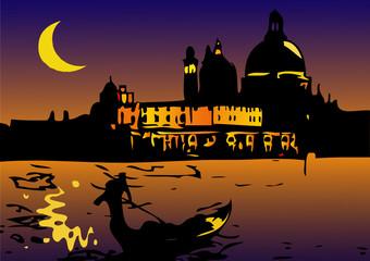 Notte a Venezia con Luna