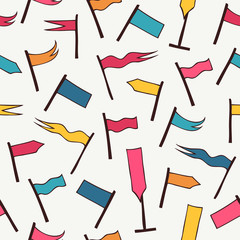 Seamless pattern with decorative flags