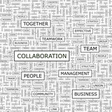 COLLABORATION. Word cloud concept illustration.   poster