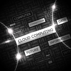 CLOUD COMPUTING. Word cloud concept illustration.