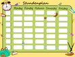 Stundenplan, Schule Illustration