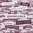 KNOWLEDGE. Word cloud concept illustration.