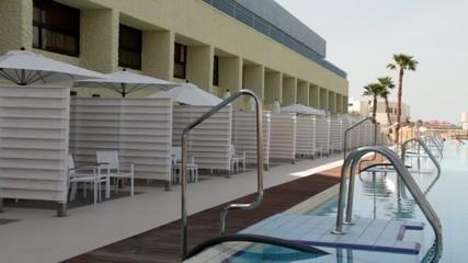 Swimming pool near beach hotel