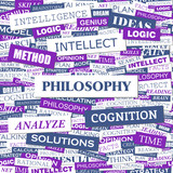 PHILOSOPHY. Word cloud concept illustration.