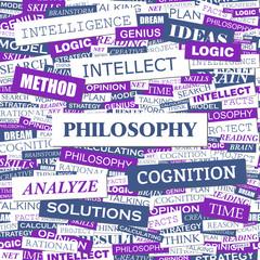 PHILOSOPHY. Word cloud concept illustration.