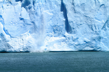 Ice Falling Off Glacier