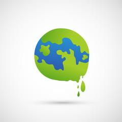 global warming icon vector