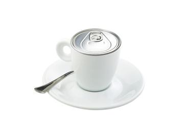 Take-out coffee in original fantasy idea