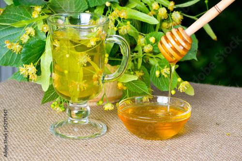 Linden honey and linden tea