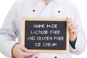 Home made lactose free and gluten free ice cream