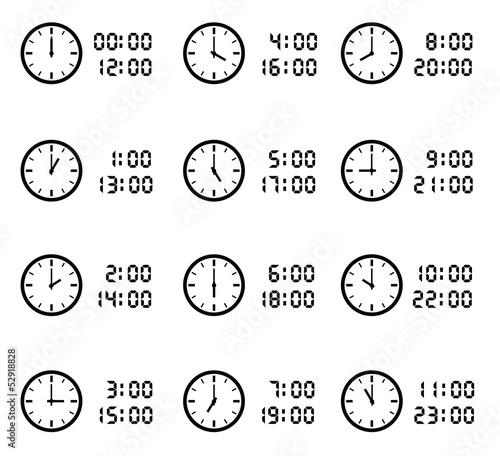 時間・スケジュール素材