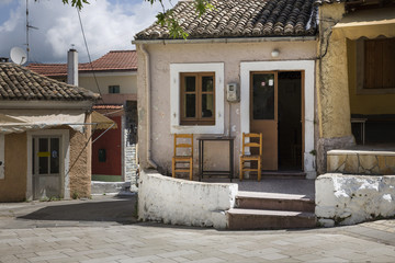 Taverna im Ort Liapades auf Korfu, Griechenland