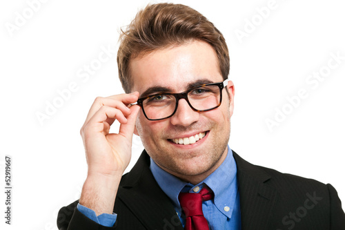 Handsome businessman wearing eyeglasses