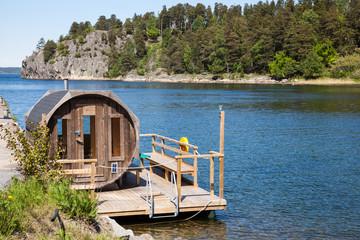 Sauna in Sweden.