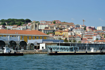 View on Alfame, Lisbon Portugal