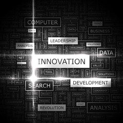 INNOVATION. Word cloud concept illustration.