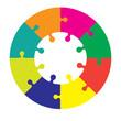 Eight piece jigsaw wheel
