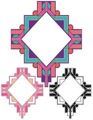 Pueblo deco style border