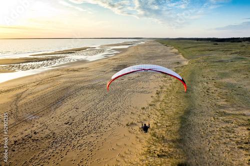 Papiers peints Aerien Paramoteur plage de Vendée