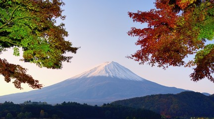 Mt. Fuji Autumn Leaves Panorama