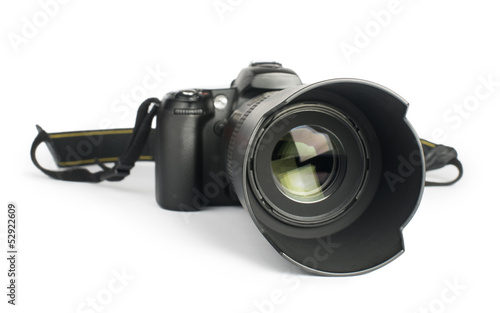 DSLR camera white isolated - 52922609