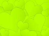 Fundo com corações verdes