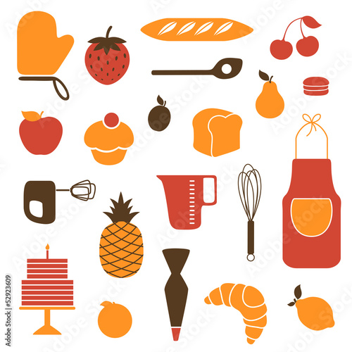 Vector Illustration of Kitchen Tools