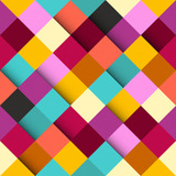 Abstract colorful square pattern background