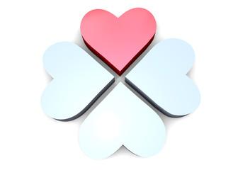 HEART CLOVERLEAF - 3D