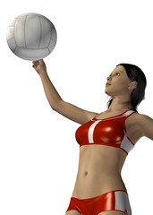 PLAYING VOLLEYBALL - 3D