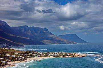 Resort village at Atlantic coast, Camps bay, Cape Town