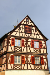 Traditional half-timbered house in Colmar, France