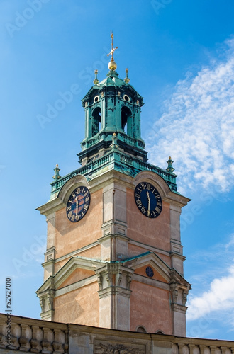 The tower of the Cathedral of St. Nicholas in Stockholm