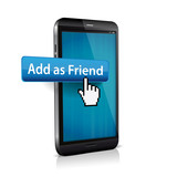 Clicked Add Friend Button Illustration for Social Media