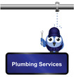 Comical Plumbing Services Sign