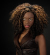 Beautiful African American woman with gorgeous lips and big hair