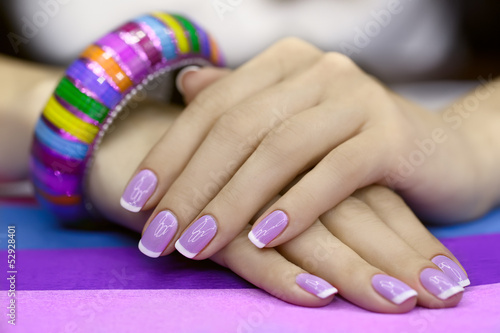 Beautiful women's manicure