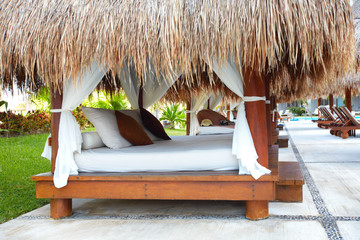 Exotic sun bed.