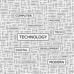 TECHNOLOGY. Word cloud concept illustration.