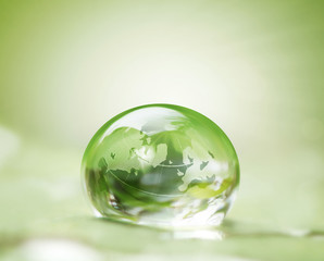 earth in waterdrop