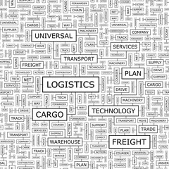LOGISTICS. Word cloud concept illustration.