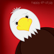 "Eagle ""Happy 4th of July"" card in vector format."