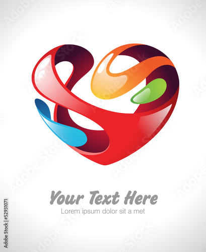 Vector illustration of a stylized heart