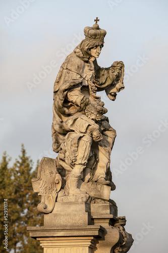 Statue of St. Ludmilla of Bohemia Poster