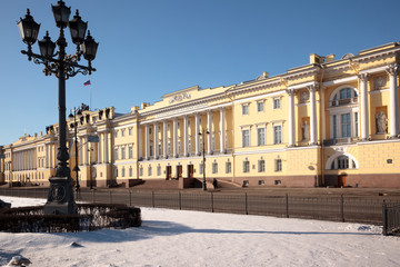 The buildings of the Senate and Synod in St. Petersburg
