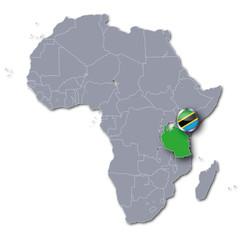 Afrikakarte mit Tansania